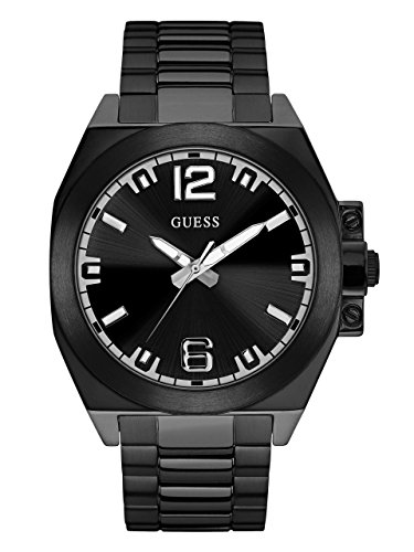 GUESS-Mens-Quartz-Stainless-Steel-Casual-Watch-ColorBlack-Model-U0963G2