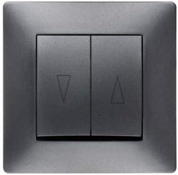 Toma de corriente Schuko Interruptor pulsador interruptor de luz Interruptor Volante Antracita Uso + Marco + Protectora: Amazon.es: Bricolaje y herramientas