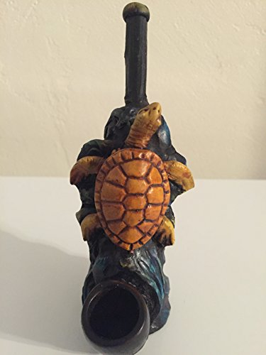 Handmade Tobacco Pipe, Sea Turtle Design