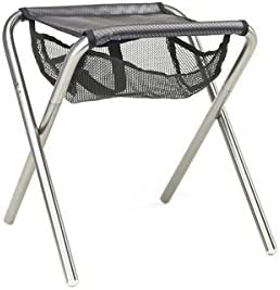 Grand Trunk, Micro Camp Stool 12 x 13 x 14.5 , Black Silver