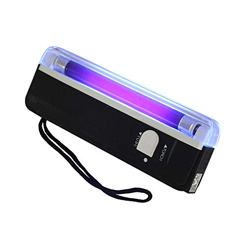 Handheld Uv Light Torch with Led Flashlight, Portable Money Detector Stamp Detection of Fluorescent Marks, Certificates, Repairs, 6 L, Black