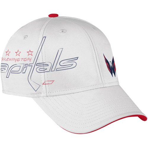 fan products of NHL Washington Capitals Center Ice Second Season Cap, White, Small/Medium