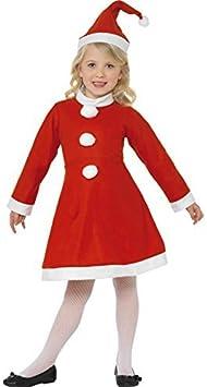 Smiffys Disfraz navideño para niña, diseño de Papá Noel, para ...