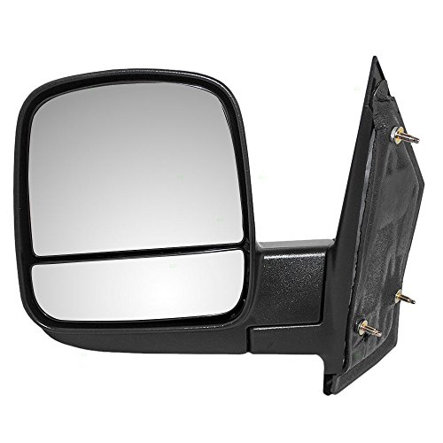 Drivers Manual Side View Mirror w/Dual Glass Replacement for Chevrolet Express GMC Savana Van 20838065 AutoAndArt ()