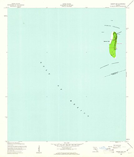 (Florida Maps | 1944 Egmont Key, FL USGS Historical Topographic Map | Cartography Wall Art | 37in x 44in)