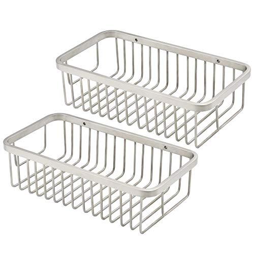 "Price comparison product image WEBI Wire Mesh Basket,  9.5"" Sturdy SUS 304 Storage Basket,  Shower Caddy,  Wall Mounted Hanging Tray Organizer,  Brushed Finish"
