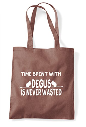 Wasted Tote Shopper Bag Degus Is Chestnut Never With Funny Spent Time 1qfwa71