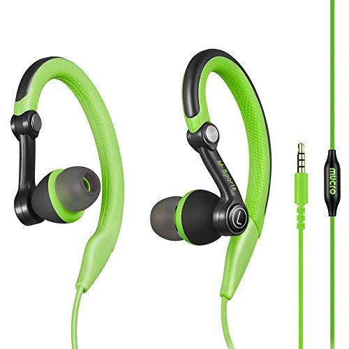 Mucro Sports Headphones Wired Headset Ear Hook Earphones Over Ear Earbuds with Microphone, in Ear Running Earphones for…