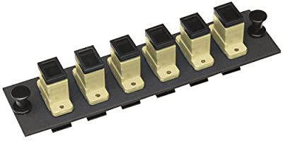 Allen Tel Products GBSC-6MM Multimode Phosphorus Bronze Sleeve Fiber Optic Loaded Mounting Panel SC Adapter, 6-Pack