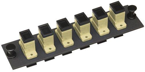 Allen Tel Products GBSC-6MM Multimode Phosphorus Bronze Sleeve Fiber Optic Loaded Mounting Panel SC Adapter, 6-Pack