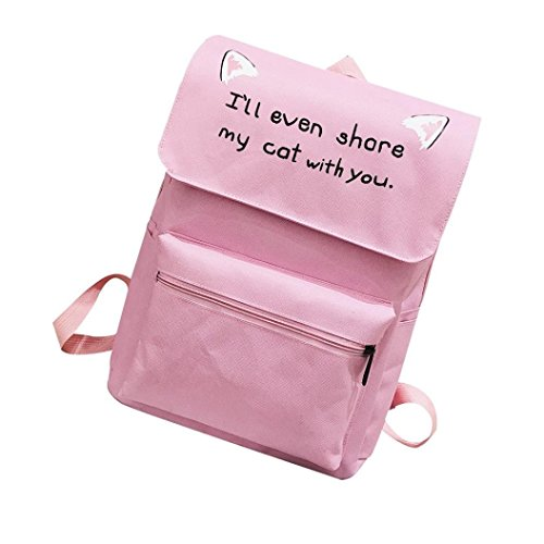 Price comparison product image Backpack Bag for Boys Girls Cat Ear Shoulder Crossbody Travel Student Bags