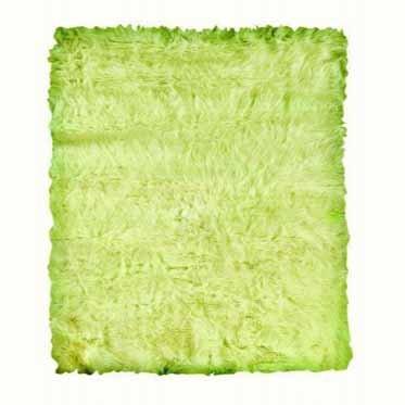 Linon Faux Sheepskin Green 3'x5′ Plush Area Rug For Sale
