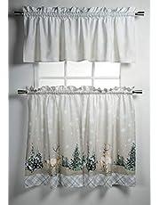 Maison d' Hermine Colmar 100% Cotton Set of 3 Kitchen Window Curtain