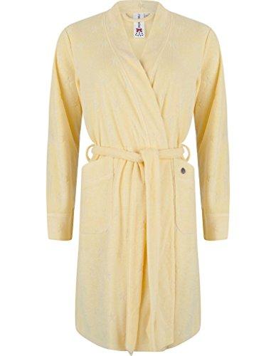 Rebelle 7171-223-1-324 Women's Yellow Cotton Robe Dressing Gown