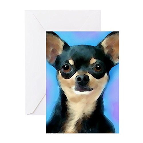 CafePress Chihuahua Greeting Card, Note Card, Birthday Card, Blank Inside Matte
