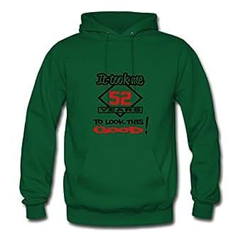 Birthday_52 Designed Women Elegent Sweatshirts - X-large - Electric Green