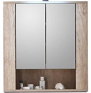 trendteam mobiletto da bagno con ante a specchio 70 x 75 x 22 cm