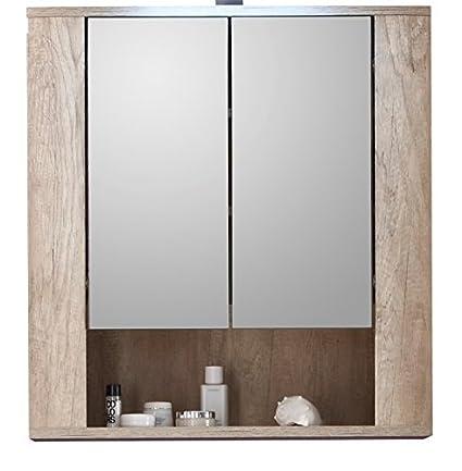 trendteam, Mobiletto da bagno con ante a specchio, 70 x 75 x 22 cm ...