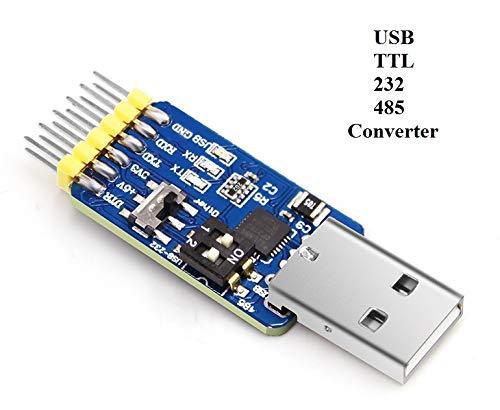 Adaptador serie WitMotion USB-UART 6-en-1 multifuncional (USB-TTL / RS485 / 232, TTL-RS232 / 485,232 a 485), con módulo