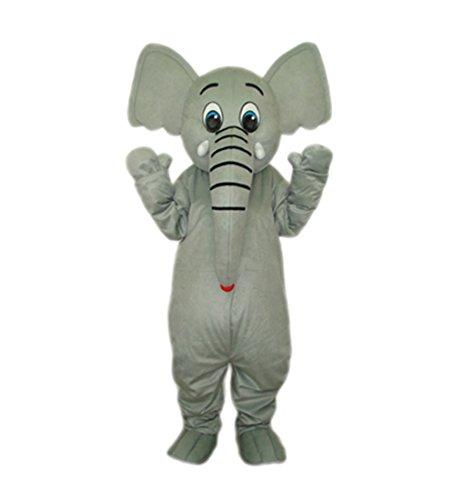 Grey Elephant Adult Mascot (Elephant Mascot Costume)