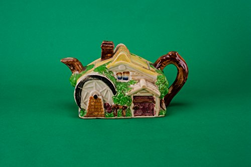 Beautiful Vintage Cottage TEAPOT Ceramic Service Art Deco Yellow Small Continental European 1940s LS