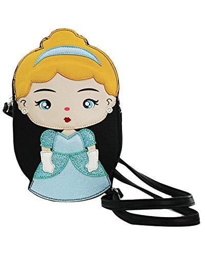 Sidecca Disney Princesses Faux Leather Vinyl Crossbody Bag (Cinderella)