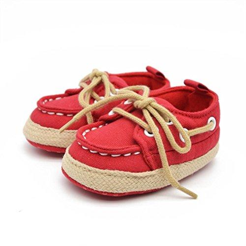 official photos 0e597 20f3b ... Tefamore Zapatos Bebe de Elegante para Primeros caminantes Rojo ...