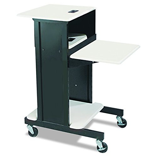 Balt Adjustable Height Laptop Stand (BALT 89759 Adjustable Presentation Cart, 18w x 30d x 40-1/4h, Black/Gray)