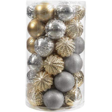 Holiday Time Classic Gold & Silver Gorgeous Shatterproof Ornament Set 41-Piece