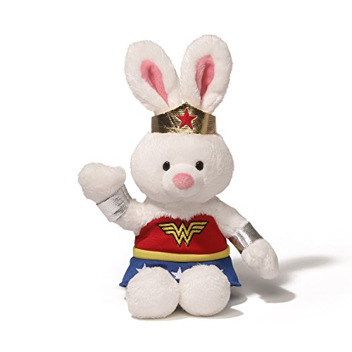 GUND DC Comics Wonder Woman Bunny Rabbit Stuffed Animal Bendable Plush, 8