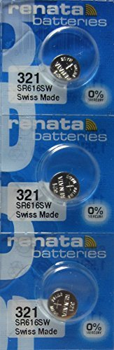(Renata Watch Battery 321 0%Hg Mercury Free X 3)
