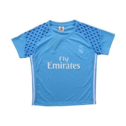 2016 2017 Real Madrid RONALDO  7 BLUE Soccer Kids Jersey   Short   Sock 10298d048b4f8