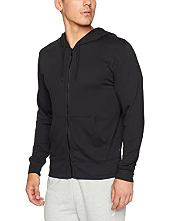 Bonds Men's Cotton Blend Basic Hoodie, Black, S