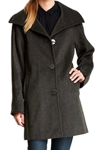 Angora Wool Coat - Ellen Tracy Women's Angora Wool Funnel Collar Coat, Spruce 12