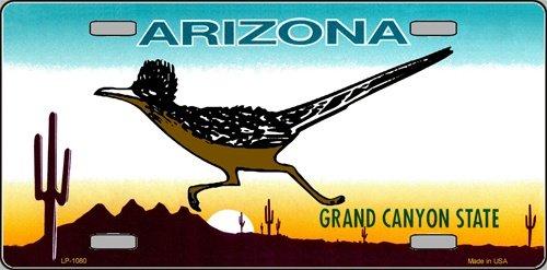 (Smart Blonde ROADRUNNER Arizona Novelty State Background Vanity Metal License Plate Tag Sign)