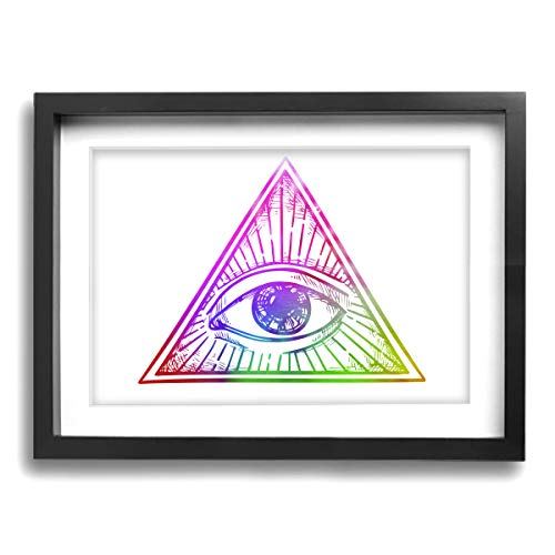 CLLSHOME 12x16 Inches Wall Decor Toilet Bathroom Framed Art Print Picture Registered Nurse Symbol Wallpaper Wall Art for Home Decorations ()