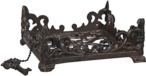 Wrought Iron Napkin Holder - Home Essentials & Beyond Handy Compact  Durable Cast Iron Napkin Holder Freestanding Tissue Dispenser Flat Napkin Holder Stand for Kitchen Countertops, Table Family Bar Cafe Restaurant Tool Gift