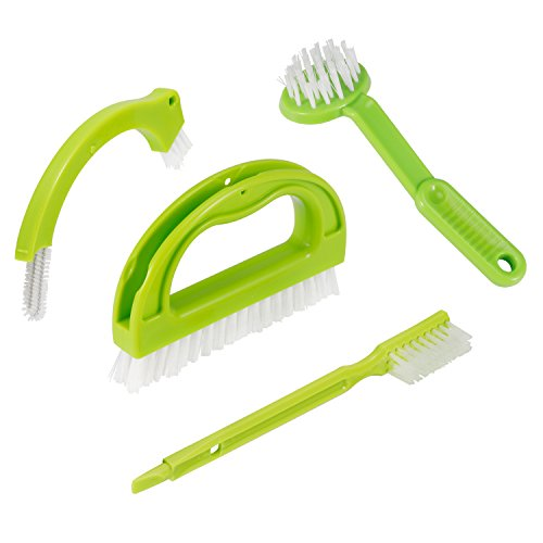 GEBTYKJ Kitchen Cleaning Brush (4 in 1 Super Value Pack) Tile Brush,Curve Brush, Small Straight Brush,Disc Brush Window Frame Brush Multi-functional Household Cleaning Brush - Disc Brush