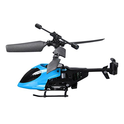Annvivi Super Mini QS QS5013 2.5CH Micro Remote Control RC Helicopter Best Christmas Gift for Boys (Blue)