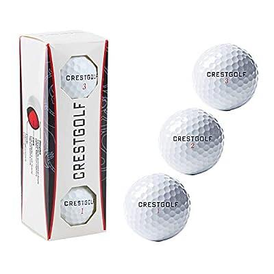 Crestgolf Professional Maximum Distance 3-Piece Golf Ball 3 Count