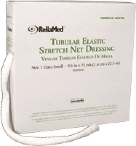 ReliaMed Non-Sterile Latex Tubular Elastic Stretch Net Dressing for Hand, Arm, Leg and Foot, Large 8