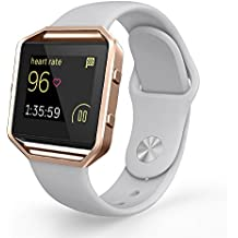 Fitbit Blaze Bands, UMTELE Sport Silicone Replacement Strap with Frame for Fitbit Blaze Smart Fitness Watch