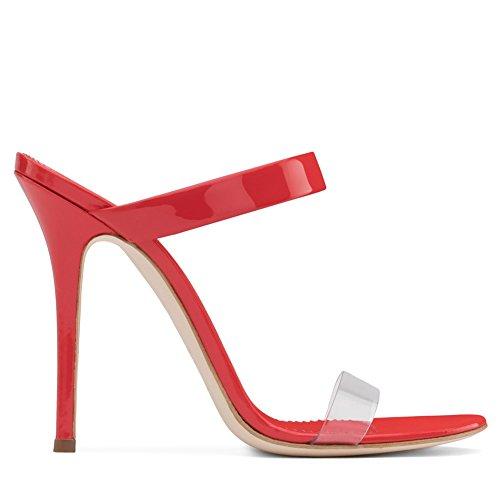 L@YC Frauen High Heels Mode Peep Toe Sandalen Slingback Größe/Kleid/Party Red