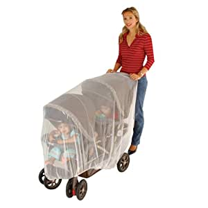 J is for Jeep Double Stroller Mosquito Net, Tandem Stroller Net, Baby Net, Double Stroller Accessories, Mosquito Net for Baby Double Strollers, Tandem Stroller Bug Cover, White, Universal Size