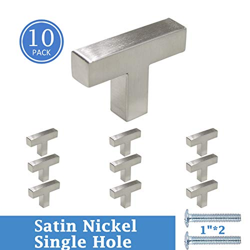 Knobonly Satin Nickel Finish Square 50mm/2