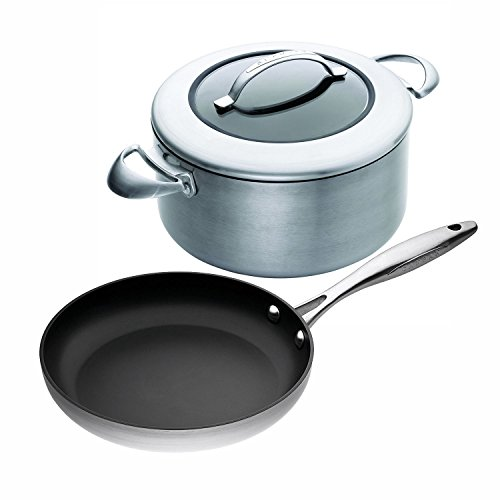 Scanpan CTX 3-Piece Cookware Set, 11-inch Fry Pan with 7-1/2 Quart Covered Dutch Oven
