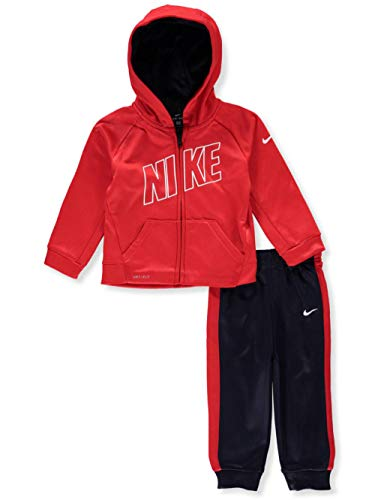 NIKE Baby Boys' Therma Dri-Fit 2-Piece Tracksuit Pants Set - Obsidian, 12