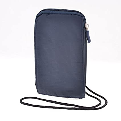 Amazon.com: Dark Blue Nylon 3,7 Max Largura 2 compartimentos ...