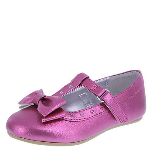 Disney Princess Girls' Pink Girls' Princess T-Strap Ballet Flat 11.5 Regular (Disney Princess Pink Dress)