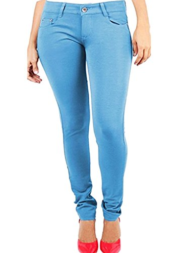 Ladies New Plus Casual Celebrity Jeans 8 Jeggings Womens Skinny Size Sky UK Size Fashions 26 Stretchy Blue Fitted SA Super wqE50Xn
